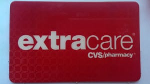 Die CVS Pharmacy extra care card aus dem Supermarkt CVS in den USA
