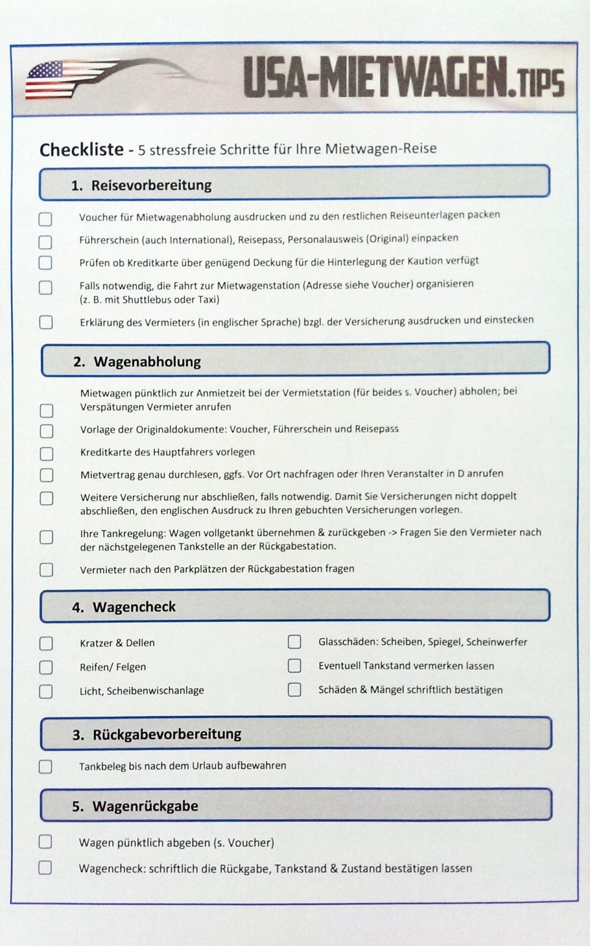Berühmt Checkliste Für Die Verpackung Zeitgenössisch - Beispiel ...