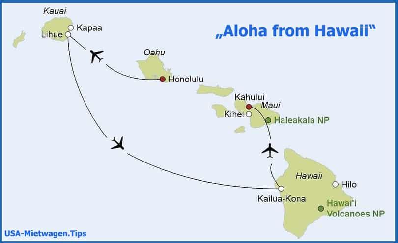 Hawaii Rundreise
