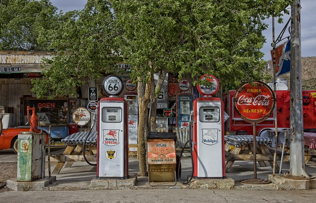 Nostalgische Tankstelle in den USA.