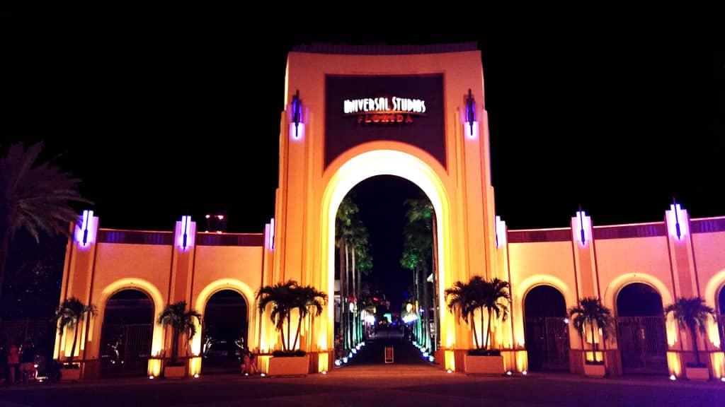 Pompöser Eingangsbereich in den Universal Studios in Orlando