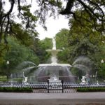 Wasserbrunnen im Historic District in Savannah, Geogria