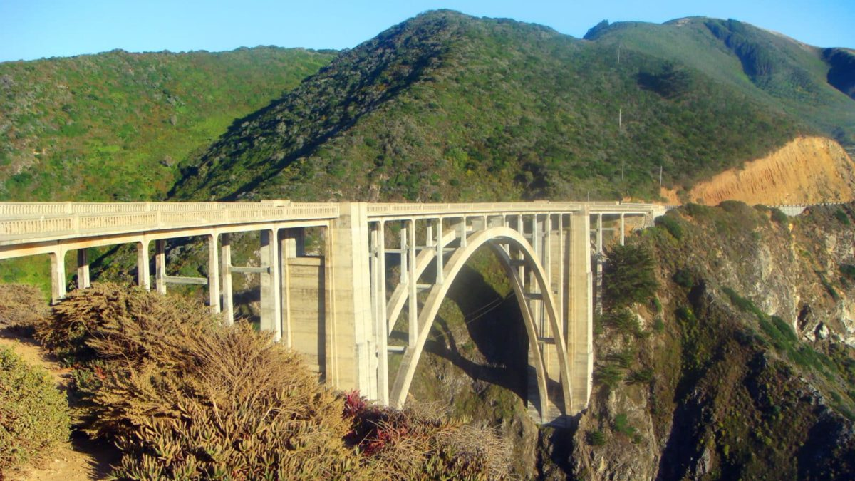 Die Bixby Bridge bei San Luis Obispo am Highway No 1.