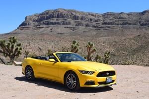 Mustang Cabrio Mietwagen im Westen der USA