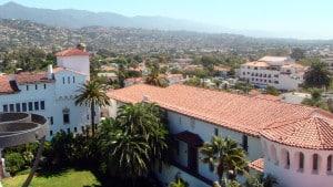 Die spanische Stadt Santa Barbara von Oben vom Courthouse