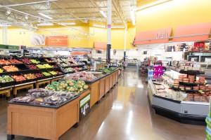 Der Blick auf das Frischobst in einem Supermarkt in den USA