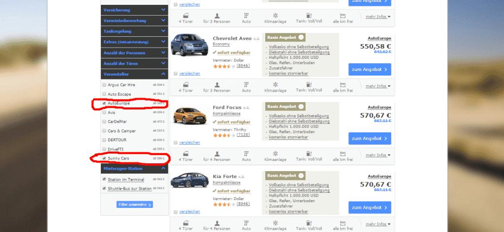 USA Mietwagen ohne Kreditkarte anmieten