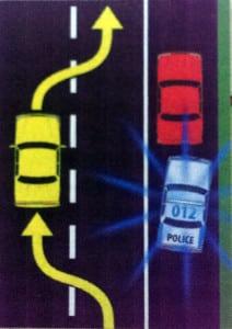 Das Move-Over-Gesetz im Straßenverkehr der USA.