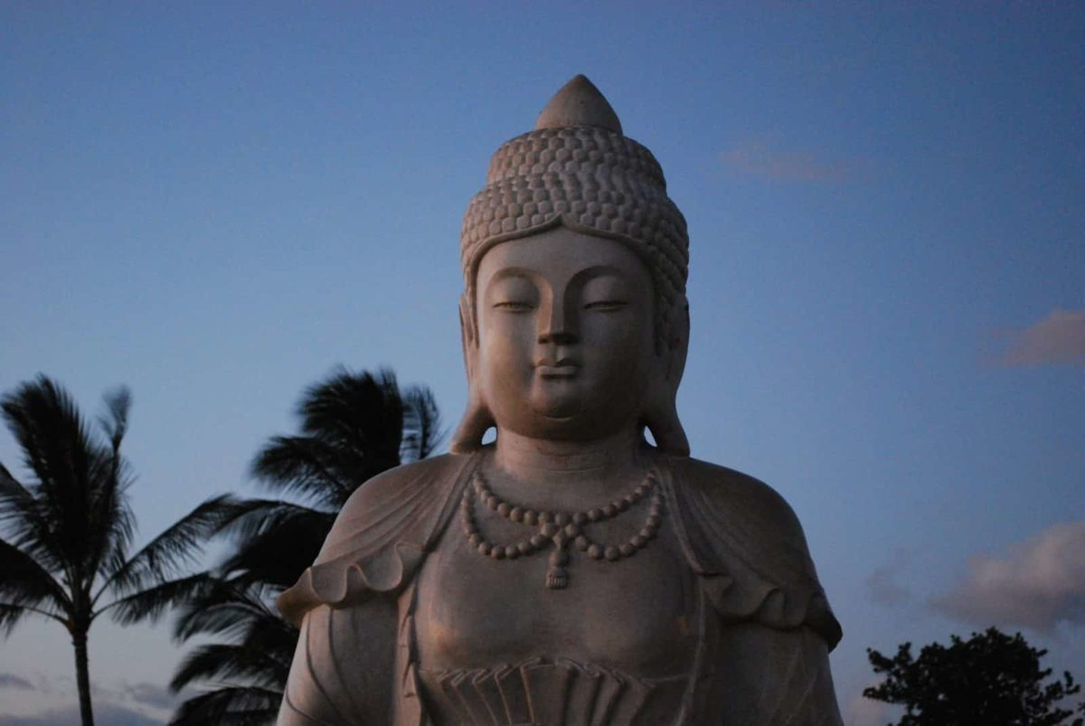 Buddha-Figur auf Hawaii