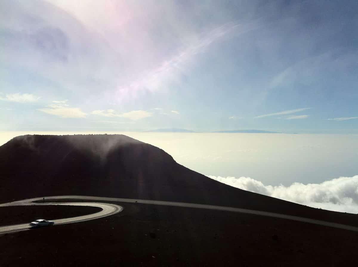Die Bergstraße auf Hawaii.