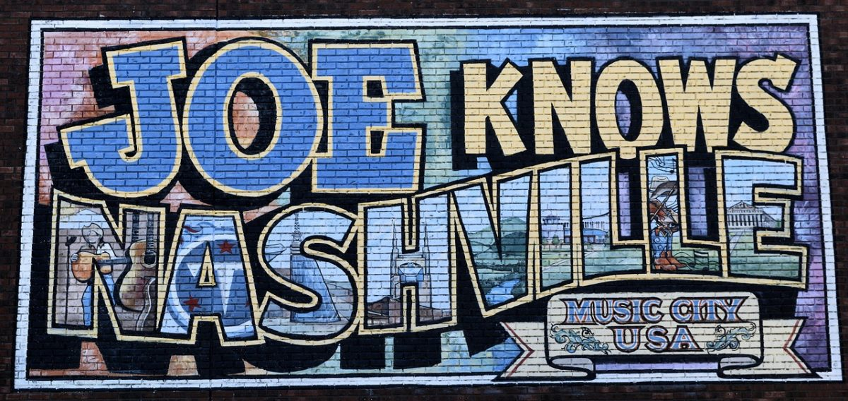 Joe knows Nashville bunte Grafitti Malerei an der Wand
