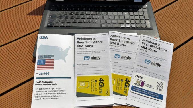 USA Sim Karten Angebote von Simlystore