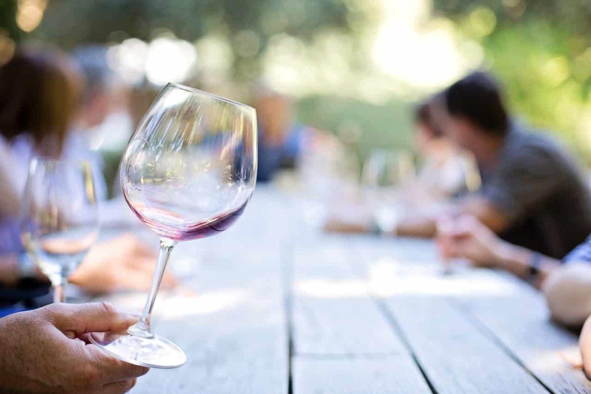 Weinverkostung in Fredericksburg, Texas.