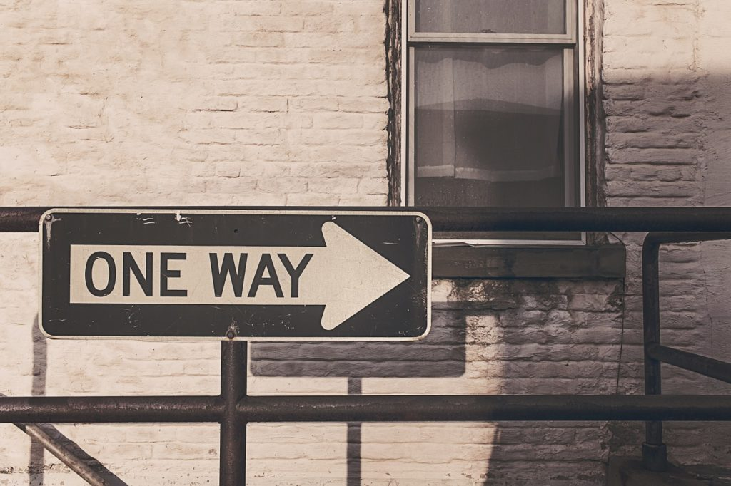 Schild One Way in den USA