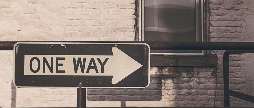 Schild One Way in den USA